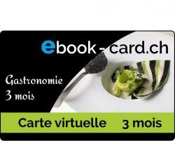 Carte virtuelle gastronomie 3 mois